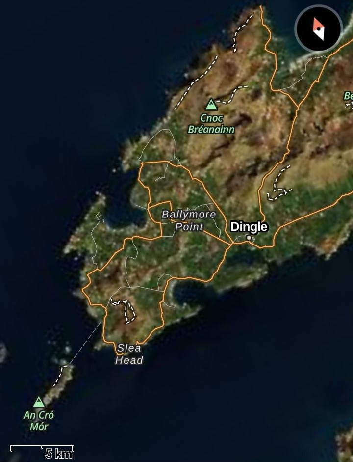 Dingle Peninsula map ok